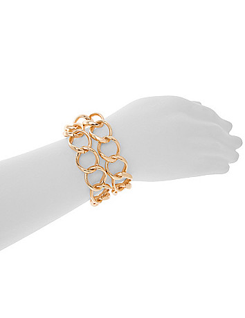 Double chain bracelet by Lane Bryant