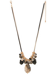 Beaded pendant necklace by Lane Bryant