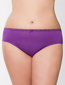 Shimmer ruffle cotton hipster panty by LANE BRYANT