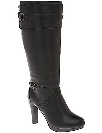 Two tone heeled boot