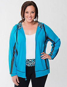 Sparkle spliced hoodie by LANE BRYANT