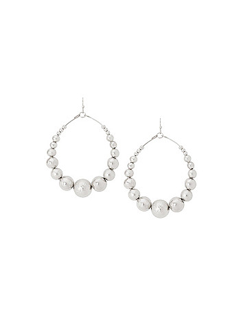 Dusted ball teardrop earrings by Lane Bryant