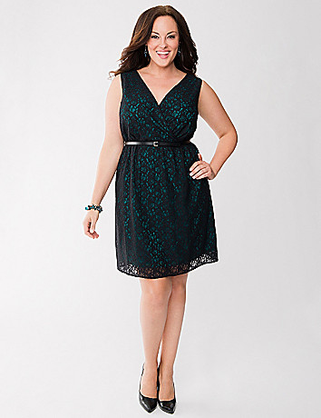 Color pop lace dress