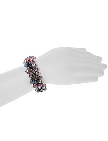 Faceted bead shaker bracelet by Lane Bryant