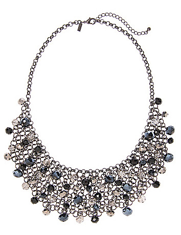 Faceted bead bib necklace by Lane Bryant