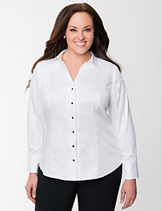 The Perfect Shirt with faceted buttons by LANE BRYANT