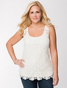 Lace tank by LANE BRYANT