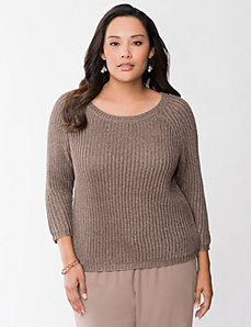 Metallic shaker sweater by LANE BRYANT