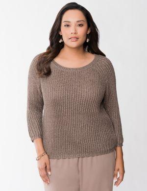 Metallic shaker sweater