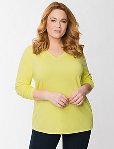 Essential V long sleeve tee by LANE BRYANT