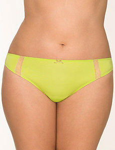 Dazzler Lace trim thong panty by LANE BRYANT