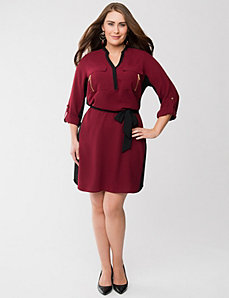 Colorblock shirt dress by LANE BRYANT