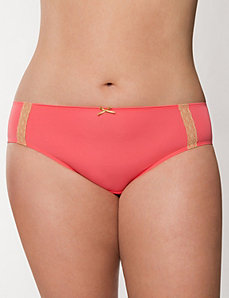 Dazzler hipster panty with lace by LANE BRYANT