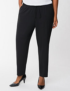 Soft pant with tuxedo stripes by LANE BRYANT