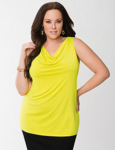 Lane Collection cowl neck tank by LANE BRYANT