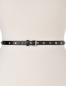 Studded rhinestone skinny belt by LANE BRYANT