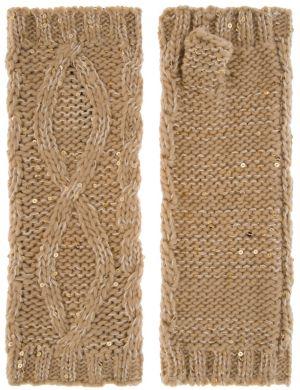Sequin fingerless gloves
