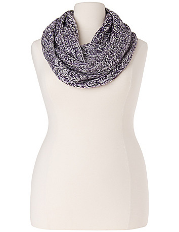 Marled eternity scarf