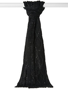 Sequin cable knit scarf by LANE BRYANT