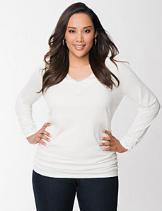 Sequin long sleeve tee by LANE BRYANT