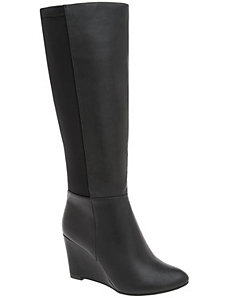 Stretch back wedge boot by LANE BRYANT