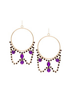 Stone statement hoop earrings by Lane Bryant