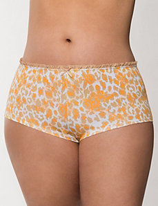 Ruffled Sassy cotton boyshort panty by LANE BRYANT