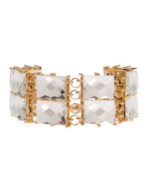 Two row stone bracelet by Lane Bryant