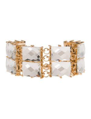 Two row stone bracelet by Lane Bryant