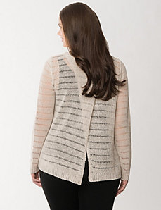 Tulip open-back sweater by LANE BRYANT