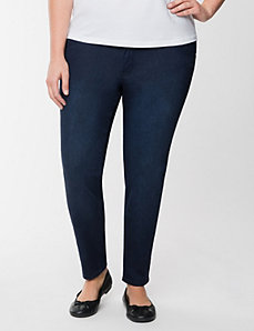 Genius Fit™ sateen denim skinny ankle pant