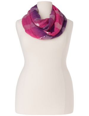 Sequined ombre eternity scarf