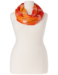 Sequined ombre eternity scarf by LANE BRYANT