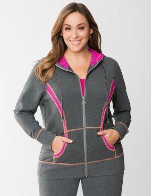 Mesh spliced hoodie