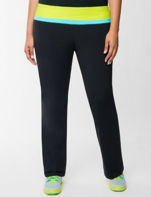 TruDry yoga pant with mesh waistband