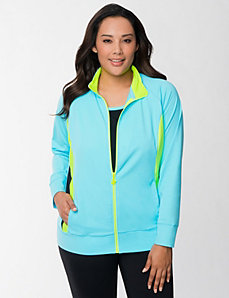 Colorblock performance jacket by LANE BRYANT