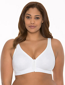 Cotton no-wire front close bra