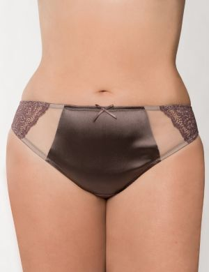 Mesh & lace tanga panty