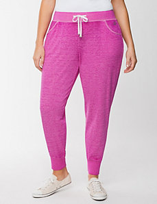 Burnout washed jogger by LANE BRYANT