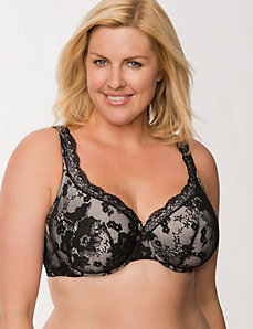 Bold lace unlined full coverage bra