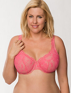 Bold lace full coverage bra