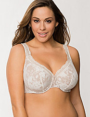 LANE BRYANT-CACIQUE -Bold lace full coverage bra 46DDD!