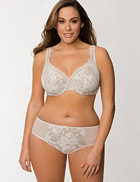 Bold Lace Full Coverage Bra Ensemble