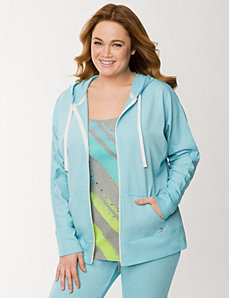 Burnout French terry hoodie by LANE BRYANT