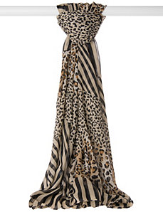 Animal print tunnel scarf by LANE BRYANT