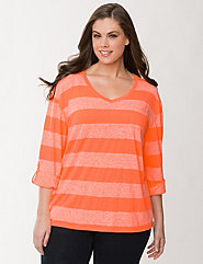 Burnout striped pocket tee