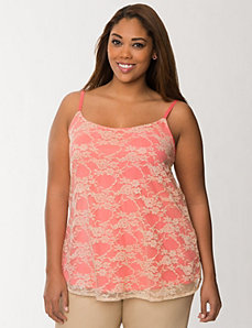 Lace overlay cami by LANE BRYANT