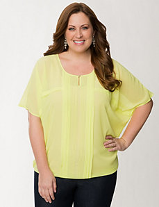 Pintuck drama top by LANE BRYANT