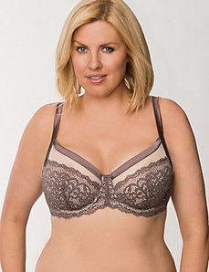 Embroidered lace French full coverage bra