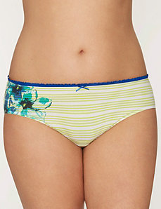 Ruffled Sassy cotton hipster panty by LANE BRYANT